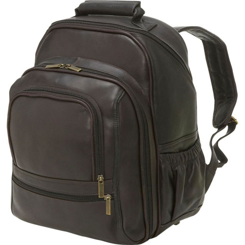 Edmond Leather Deluxe Large Leather Backpack Chocolate