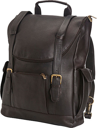 Edmond Leather Deluxe Leather Backpack Briefcase (Chocolate)