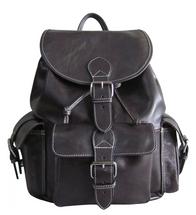 Amerileather Vacationer Jumbo Leather Backpack (Dark Brown)