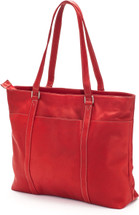 Edmond Leather Deluxe Laptop Tote US2174