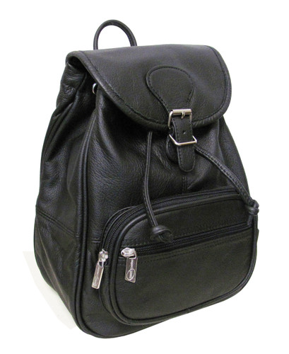 Amerileather Ladies' Leather Backpack Black