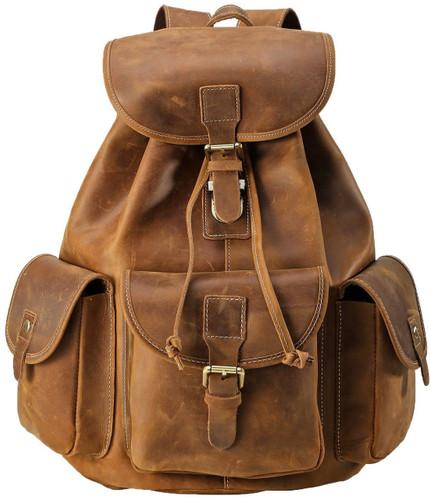 Pratt Leather Vintage Leather Backpack (Vintage Mocha)