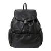 Amerileather Jumbo Leather Backpack 1518 - Black