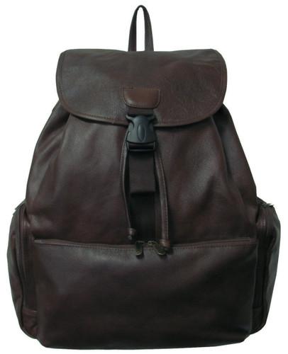 Amerileather Jumbo Leather Backpack 1518 - Dark Brown