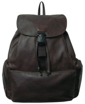 Amerileather Jumbo Leather Backpack 1518 - Dark Brown