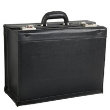 Amerileather Black Leather Pilot Case 1853 - Black