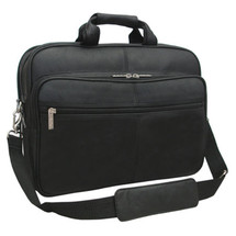 Amerileather Genuine Laptop Softside Briefcase 48 - Black