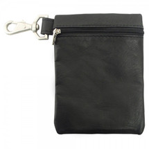 Piel Leather Valuable Pouch 2031 - Black