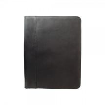 Piel Leather Zippered Padfolio 2282 - Black