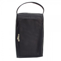 Piel Leather U-Zip Shoe Bag 2378 - Black