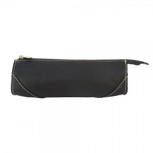 Piel Leather Brush Pencil Bag 2583 - Black