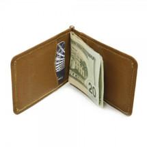 Piel Leather Bi-Fold Money Clip with ID Window 2633 - Saddle