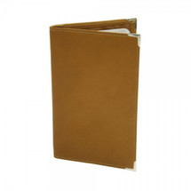 Piel Leather Vertical Score Card Cover 2636 - Saddle