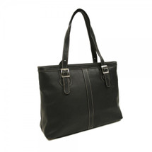 Piel Leather Ladies Laptop Tote 2761 - Black