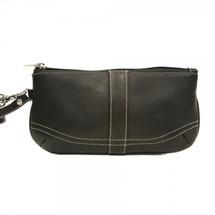 Piel Leather Large Ladies Wristlet 2768 - Black