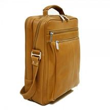 Piel Leather Laptop Shoulder Bag 2818 - Saddle