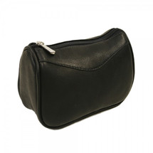 Piel Leather Carry-All Zip Pouch 2845 - Black