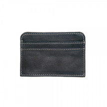 Piel Leather Slim Business Card Case 2848 - Black