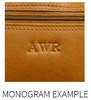 Piel Leather Ladies Laptop Tote With Pockets 3001 - Monogram