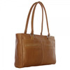 Piel Leather Ladies Laptop Tote With Pockets 3001 - Saddle