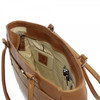 Piel Leather Ladies Laptop Tote With Pockets 3001 - Saddle1