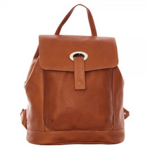 Piel Leather Large Oval Loop Backpack 3020 - Saddle