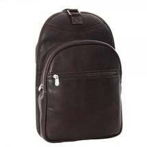 Piel Leather Slim Adventurer Sling Bag/Backpack 3066 - Chocolate