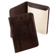 Piel Leather Vintage Letter-Size Padfolio 3080 - Vintage Brown