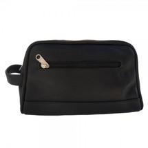 Piel Leather Top-Zip Toiletry Kit 7752 - Black