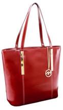 McKlein Cristina Leather Shoulder Tote Red