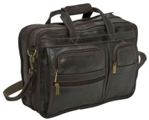 Edmond Leather Deluxe Distressed Briefcase