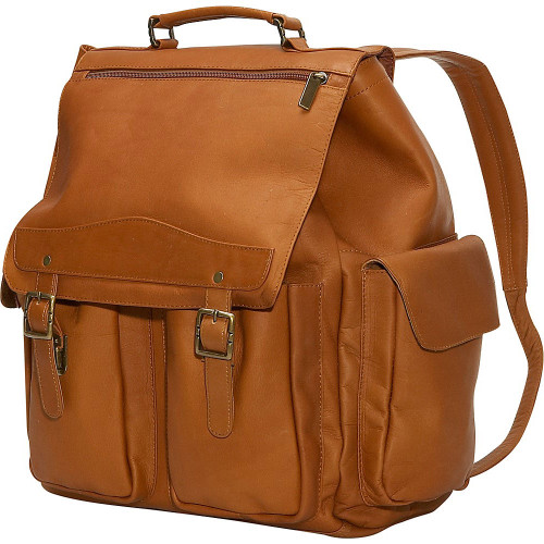 Edmond Leather Large Leather Backpack Tan
