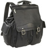 Edmond Leather Large Leather Backpack Black