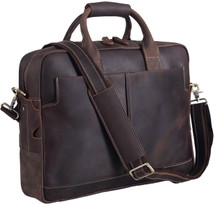 Pratt Leather Laptop Satchel Dark Espresso