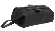 Amerileather Zip Top Leather Toiletry Bag Black