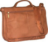 Edmond Leather Full Flap Expandable Leather Briefcase (Tan)