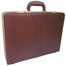 Amerileather Caden Faux Leather Attache Case (Brown)