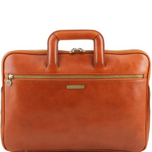 Tuscany Leather Caserta Leather Document Briefcase (Honey)
