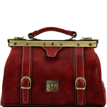 Tuscany Leather Monalisa Leather Gladstone Doctor Bag (Red)