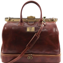 Tuscany Leather Barcellona Leather Gladstone Doctor Bag (Brown)