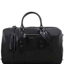 Tuscany Leather TL Voyager Travel Bag Duffle TL141401 (Black)