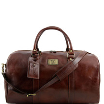 Tuscany Leather TL Voyager Travel Bag Duffle TL141247 (Large) (Brown)
