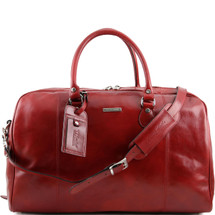 Tuscany Leather TL Voyager Travel Bag Duffle TL141218 (Red)