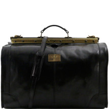 Tuscany Leather Madrid Leather Gladstone Bag (Large) (Black)