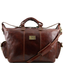Tuscany Leather Porto Leather Weekender Bag (Brown)