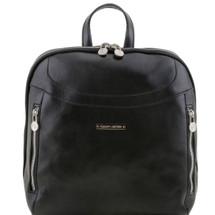 Tuscany Leather Manila Leather Backpack (Black)