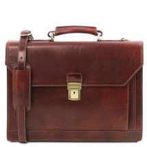 Buccio Carrara Italian Leather Briefcase