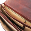 Buccio Carrara Italian Leather Briefcase (Pockets)