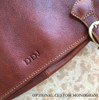Buccio Palermo Italian Leather Messenger Brief (Monogram)