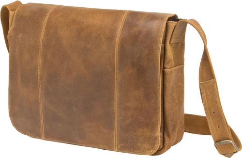 Edmond Leather Vintage Distressed Messenger Bag (Tan)